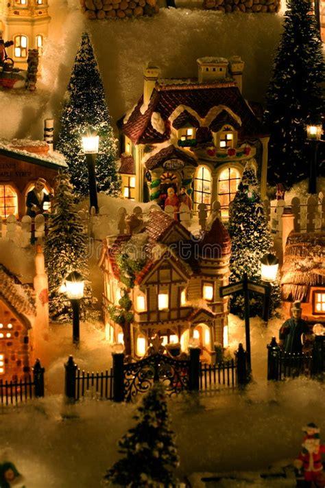 minuiture christmas towns miniature stock image image of season 342383