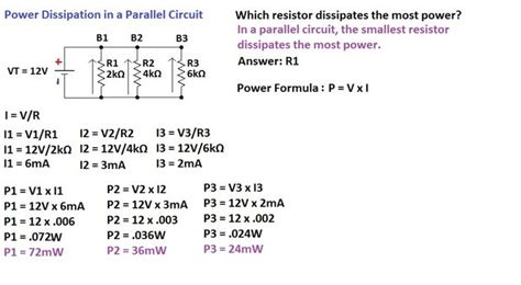 what value of power is dissipated by a 5 ko resistor when 30ma flows through it chapter 4 parallel circuits