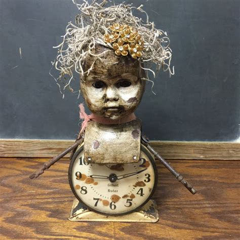 doll mixed media doll mixed media assemblage repurposed porcelain doll bust