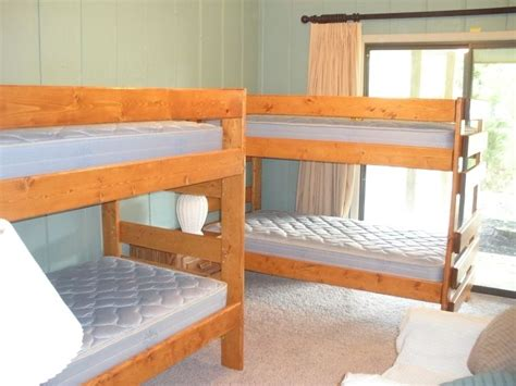 Handcrafted Beds - handmade lake house bunk beds by ambassador woodcrafts