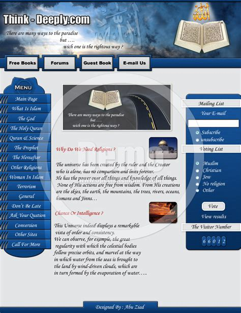 Islamic Website Template By Telpo On Deviantart Islamic Website Templates Free