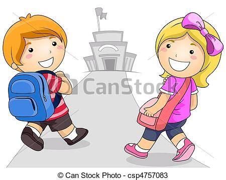 imagenes niños yendo ala escuela dibujos de escuela yendo ni 241 os ilustraci 243 n feature