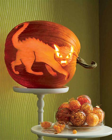 jack o lantern templates martha stewart fierce feline pumpkin martha stewart