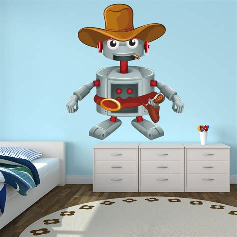 robotic wall wallstickers folies robot wall stickers
