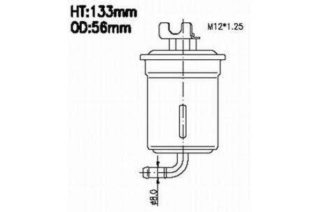 Fuel Filter Daihatsu Feroza Asli fsp26109 efi fuel filter daihatsu feroza 1 6l 1995 1999