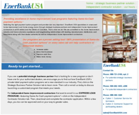 enerbank enerbank usa unsecured home improvement