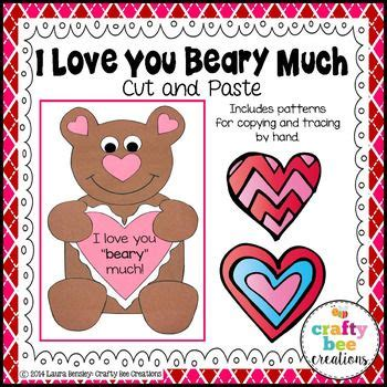 I You Beary Much Card Template by 376 Best Crafty Bee Creations Images On