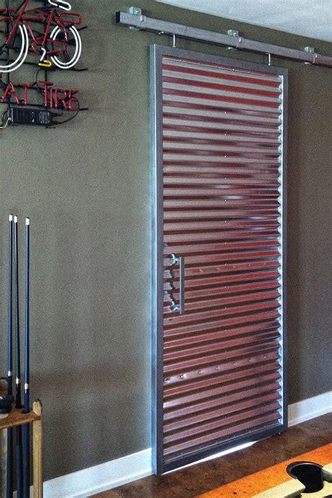 Game Room Corrugated Barn Door On Behance Steel Barn Door