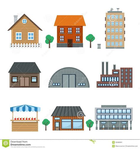 set houses drawings stock photo photo vector illustration building icons stock vector illustration of city symbol