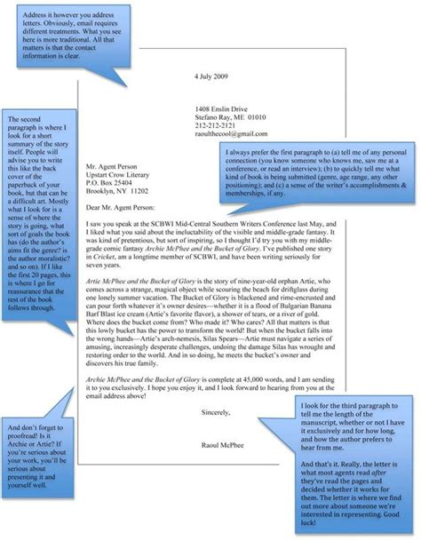 Book Query Letter Sle How To Write A Query Letter To Agents Writing Crows And Letters