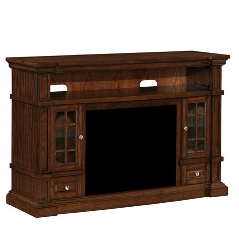 Shop Classicflame Belmont Caramel Oak Rectangular Lowes Fireplace Tv Stand