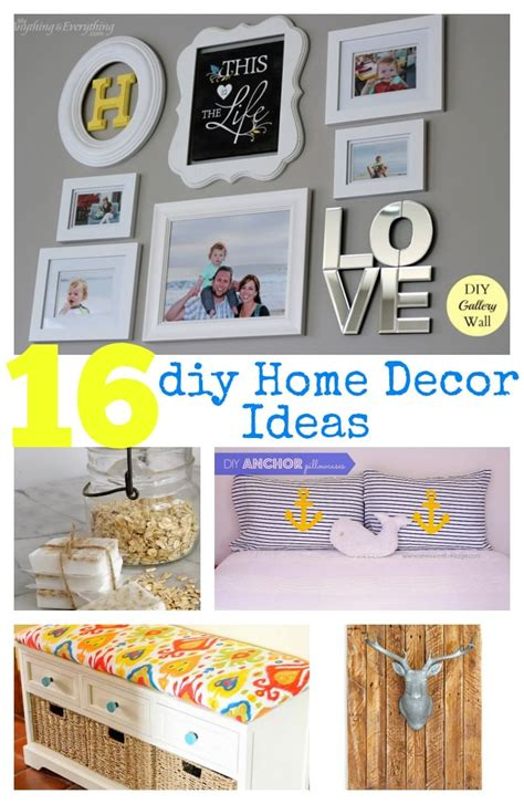 ideas for home 16 diy home decor ideas pinkwhen