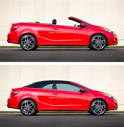 kia convertible 2014 kia forte cabriolet rendering autoevolution