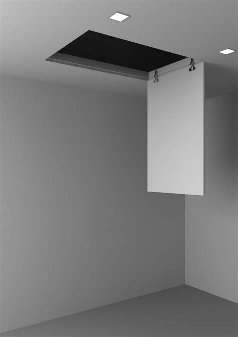 soffitte in cartongesso sportello botola a filo muro per accesso a soffitte o per