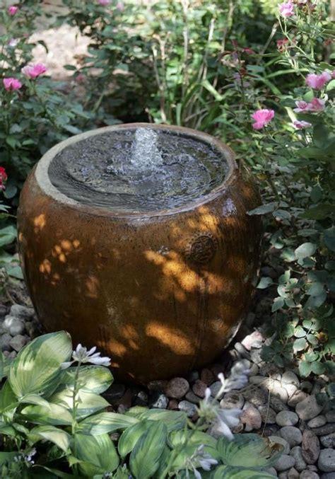 bubbling pot water feature backyard water feature diy