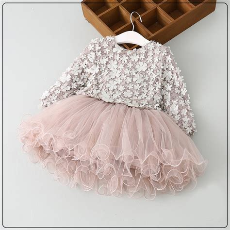 high quality spring girls petal dress baby girls princess