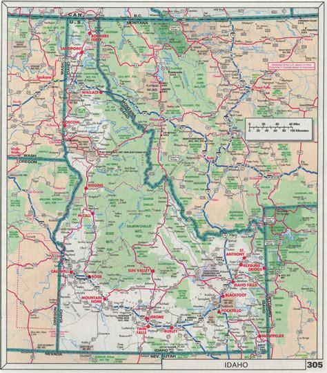 idaho on map highway idaho road map highway