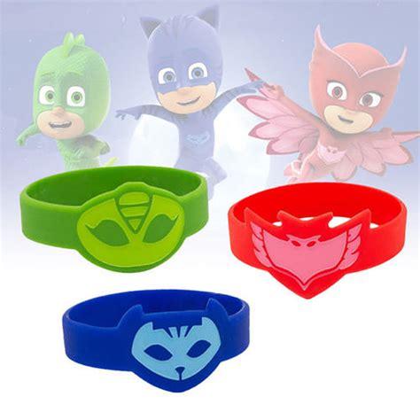 Wrist Band Pj Mask pj masks wristbands catboy owlette gekko bracelets ebay