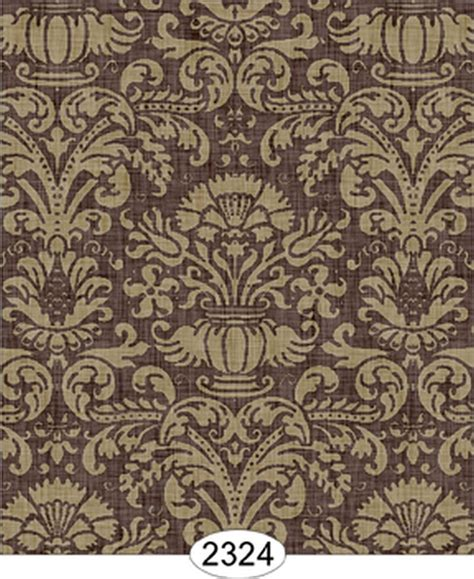 chocolate damask wallpaper dollhouse wallpaper annabelle damask brown chocolate ebay