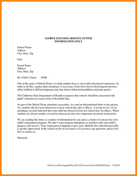 Sle Letter Requesting Leave Of Absence From College 6 Absent Letter For College Musicre Sumed