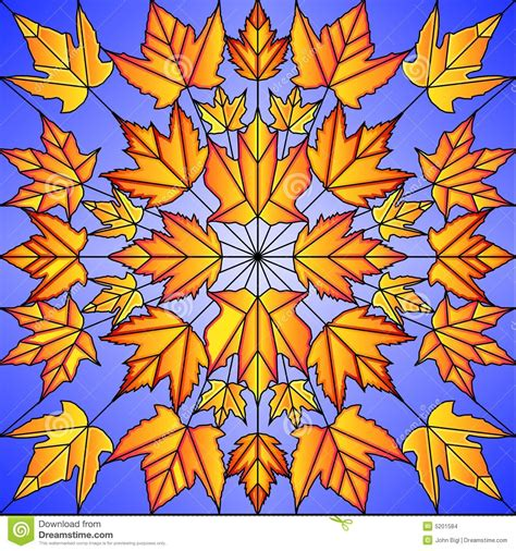 leaf pattern for stained glass stained glass maple leaves stock images image 5201584