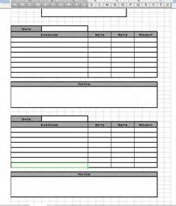 personal workout log template