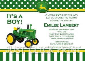 Www Uprint Templates by Tractor Deere Baby Shower Invitation Printable
