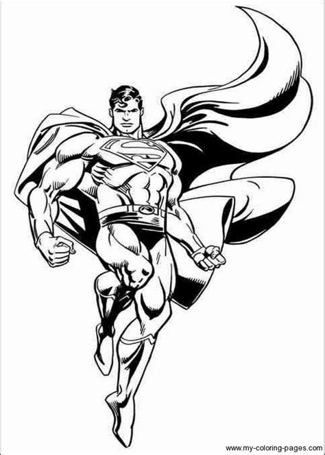 free superman man of steel coloring pages super hero