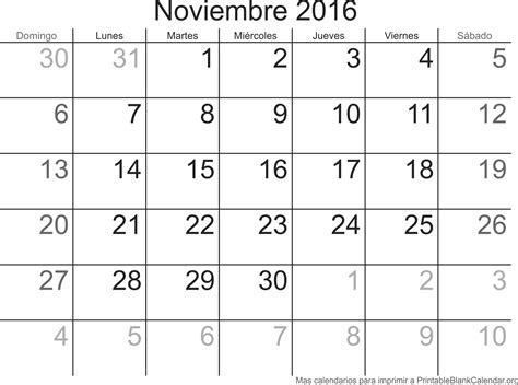 Calendario 2017 Noviembre Noviembre 2016 Calendario Para Imprimir Calendarios Para