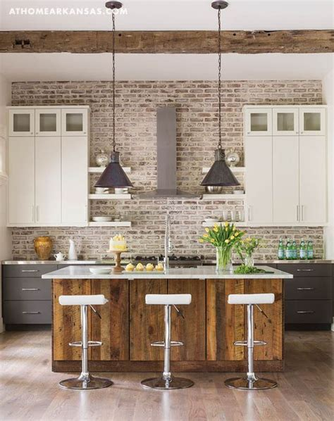 kitchen ceilings arkansas and whitewashed brick on