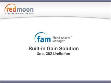 section 382 limitation rate ppt built in gain solution sec 382 limitation