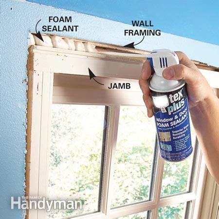 doors expanding in winter sealing window trim with low or no expanding foam