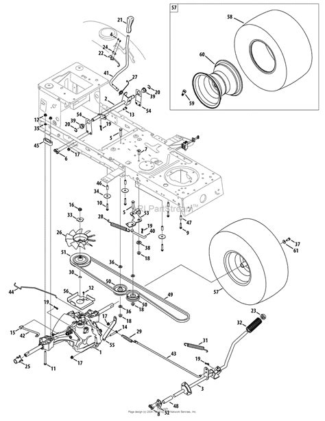 craftsman lt2000 parts diagram mtd 13al79ss099 247 289050 2010 lt2000 13al79ss099