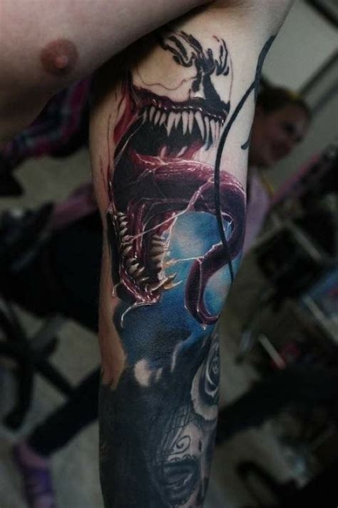 venom ink tattoo the detail of this venom geeky
