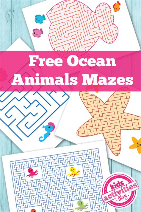 printable beach maze free ocean maze worksheets printables 4 mom