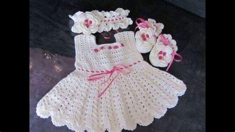 vestidos para bebes de tejido vestidos para beb 233 reci 233 n nacido tejidos a crochet youtube