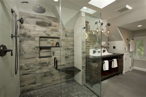 elegant schulter look dc metro industrial bathroom