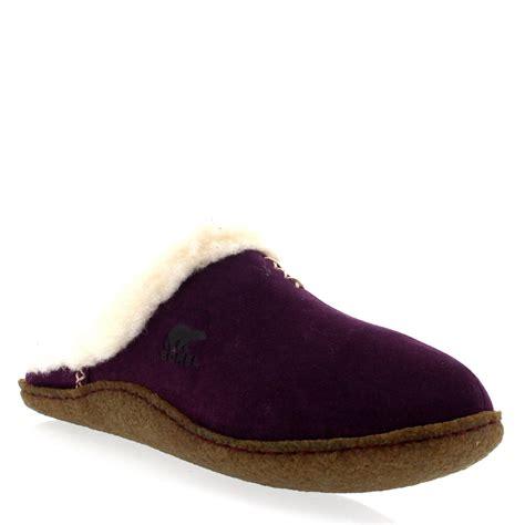 womens winter slippers womens sorel nakiska slide warm fur lined cosy open back