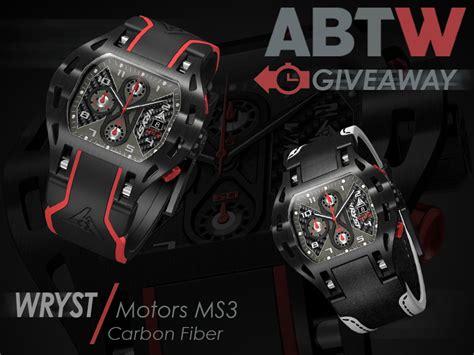 Watch Giveaways - watch giveaway wryst motors ms3 carbon fiber haxcom com