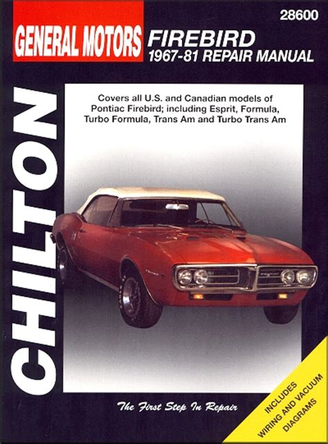 manual repair free 1967 pontiac firebird auto manual firebird esprit formula trans am repair manual 1967 1981