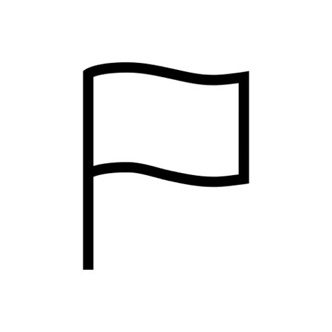Outline Of Flag by Flag Outline Icon Iconshow