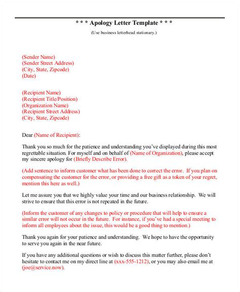Apology Letter Format To Professor Apology Letter Templates 15 Free Word Pdf Documents Free Premium Templates
