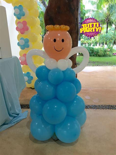 decoracin de servilleteros para bautizo tutti contenti decoraciones decoracion para bautizos 193 ngel balloons decorations decoraci 243 n de bautizo primera comuni 243 n balloons globoflexia