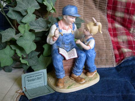 home interior denim days figurines home interiors homco denim days quot grandpa s story quot figurine