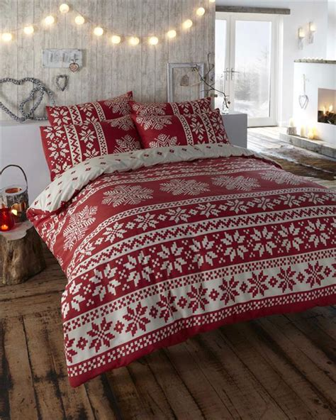 king size christmas bedding new red cream alpine bedding king size quilt duvet