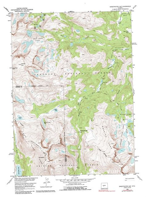 Sweetwater Gap by Sweetwater Gap Topographic Map Wy Usgs Topo 42109f1