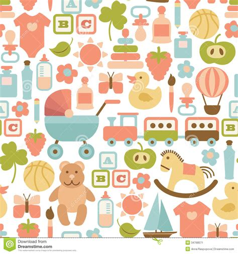 pattern background icon baby pattern stock vector image of element decoration