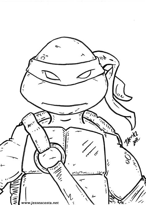 preschool turtle coloring pages