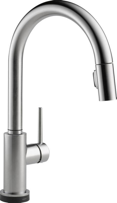 Delta Allora Kitchen Faucet by Delta 9159t Ar Dst Arctic Stainless Trinsic Pull Down