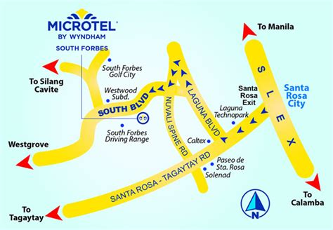 Marvelous Church Food Drive #7: Microtel-South-Forbes-near-Nuvali-Sta.-Rosa-map.jpg